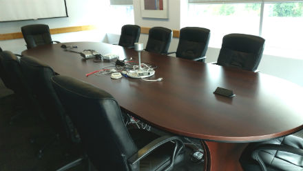 Boardroom Table 16 x 4.5 Mahogany Laminate