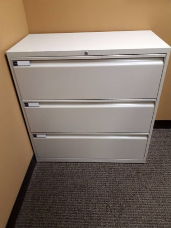 HEAVY DUTY 3 DRAWER LATERAL FILE 36 WIDE