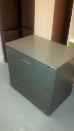 "HERMAN MILLER 2 DRAWER 30 WIDE FILES "" MT "" FINISH"
