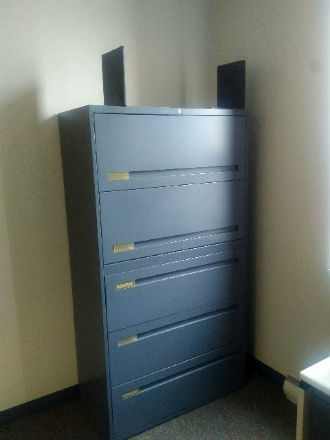 GLOBAL 5 DRAWER LATERAL FILE