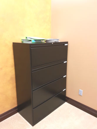 4 DRAWER LATERALS BLACK