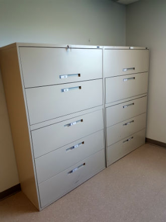 GLOBAL 5 DRAWER LATERAL FILES 42 WIDE