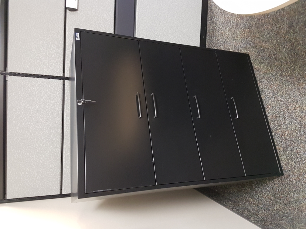 4 drawer lateral files black