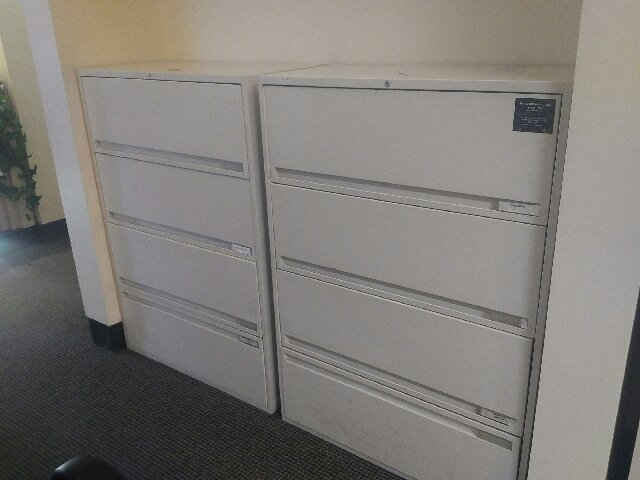 Storwal Lateral Files 4 Drawers- Off White Colour