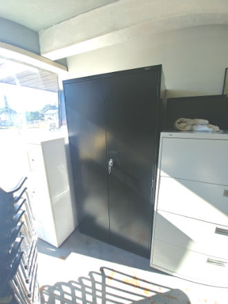 GLOBAL 72 HGH STORAGE CABINETS BLACK