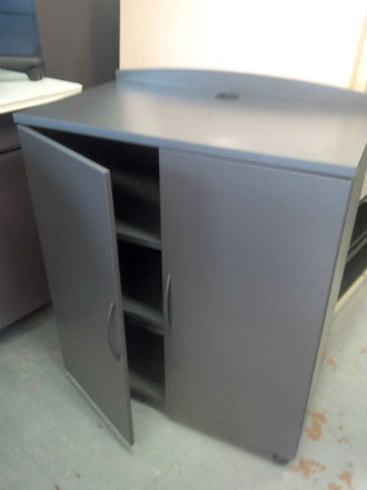 Laminate Storage Cabinet - Charcoal