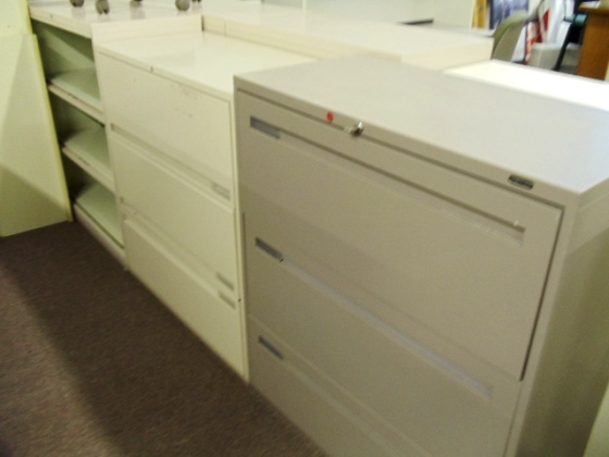 3 DRAWER LATERAL FILES - MISC. SINGLE  COLORS