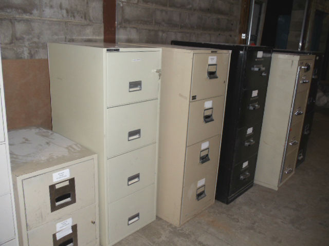 4 drawer legal fire proof files