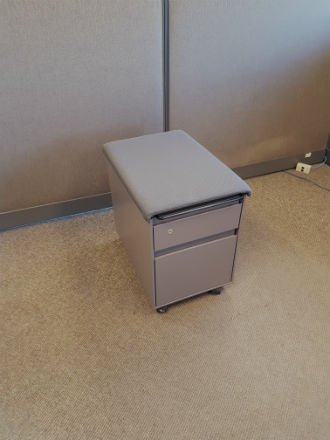 STEELCASE MOBILE PEDESTAL WITH SEATS