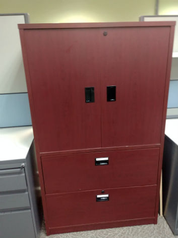 COMBINATION 2 DRAWER LATERAL WITH UPPER STORAGE