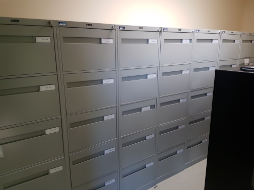 Global 5 drawer legal files grey