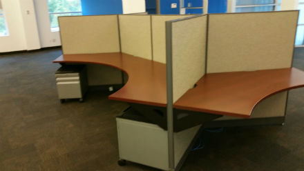 Haworth Unigroup panel workstations