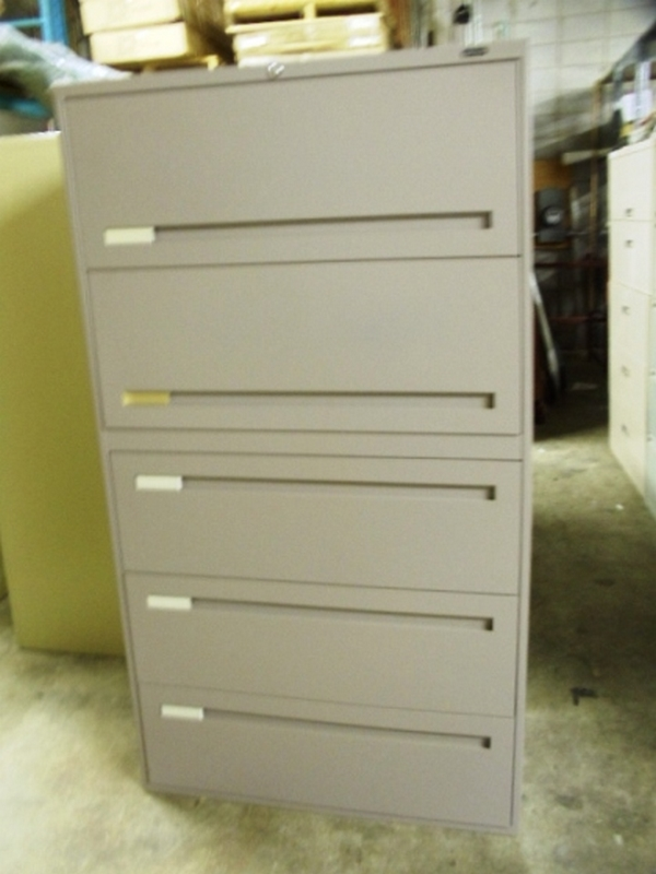 5 DRAWER LATERAL FILES - MISC. COLORS