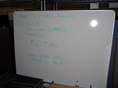 white marker boards - heavy duty