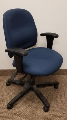 GLOBAL BLUE MULTI FUNCTION TASK CHAIRS