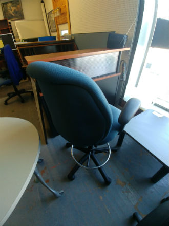 DRAFTING HEIGHT TASK CHAIR - BLUE