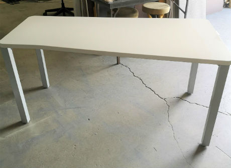 "STEELCASE "" FLARED "" TABLES  60 W."
