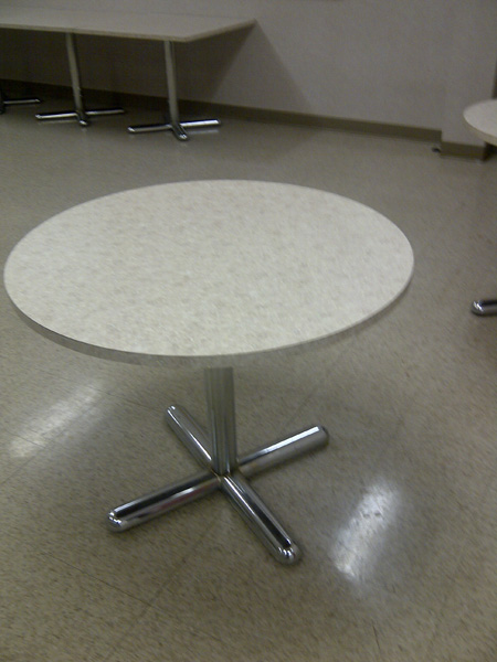 Lunch room tables - round and square style